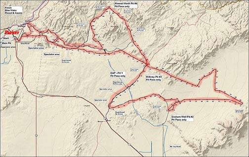 Parker 425 Map