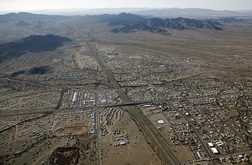 Quartzsite from the Air