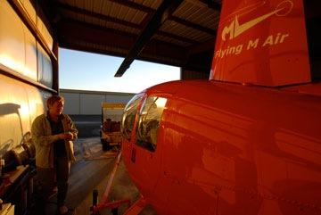 Sunrise Hangar Shot by Jon Davison