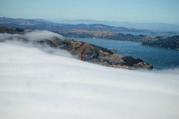 Golden Gate with Clouds