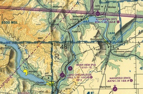 Sectional Chart around Brewster, WA