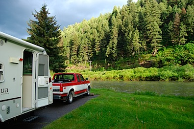 Camper At Hilgard Junction State Park