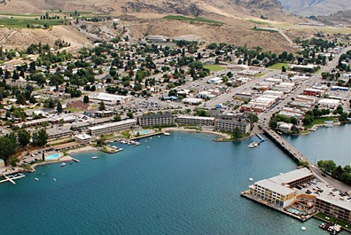 Chelan, WA from the Air