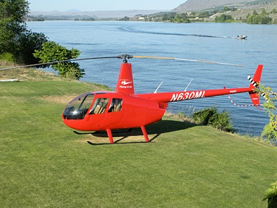 Helicopter Parked at Pateros