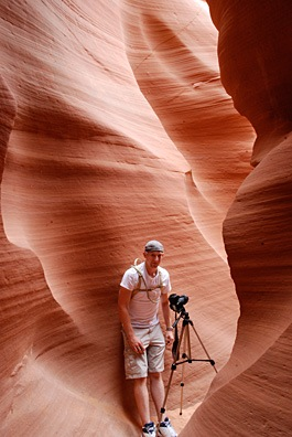 Robert in Lower Antelope Canyon
