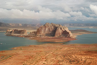 Lake Powell with Clouds