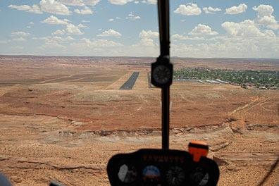 Landing at PGA