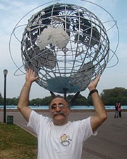 Bob Holds Up Unisphere