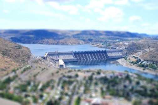 Tilt-Shift Grand Coulee Dam