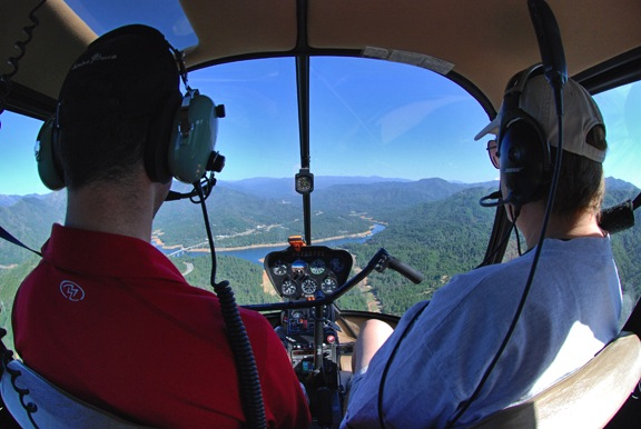 Over Lake Shasta