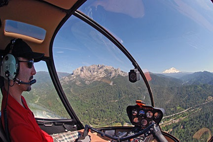 Ryan Flying Near Mt. Shasta