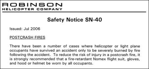 Safety Notice 40