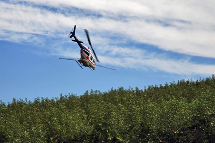 Spraying with a Helicopter