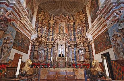 Altar at San Xavier Mission