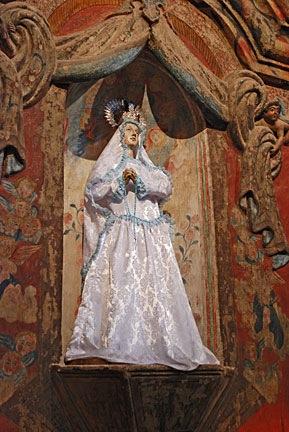 Virgin Mary at San Xavier Mission