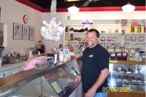Rod at the Ice Cream Counter