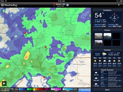 WeatherBug on iPad