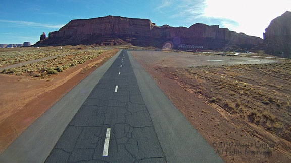 Landing at Monument Valley