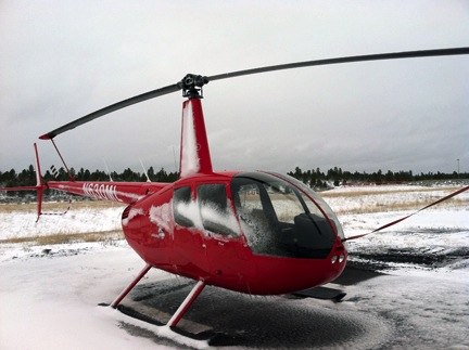 Icy-covered Helicopter