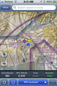 ForeFlight on iPhone