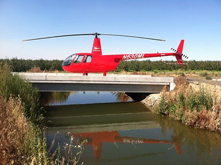 A Helicopter on a Bridge