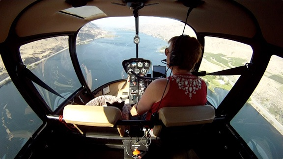 Cockpit View of Columbia River
