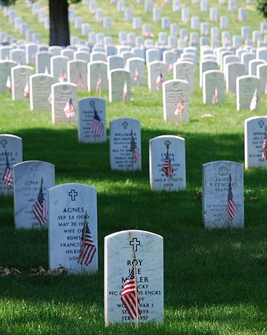 Memorial Day Graves at Arlington