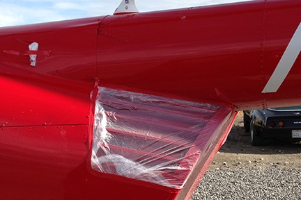 Plastic over Fan Cowl