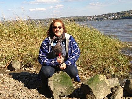 Maria and Penny at Hudson River