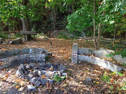 Benches at Peanut Falls