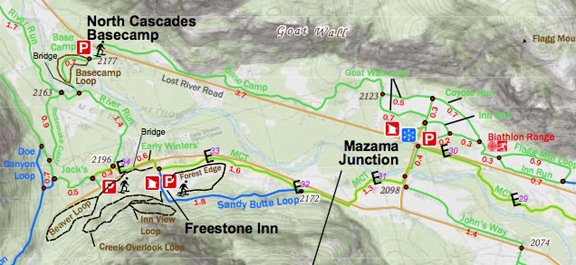 Mazama Area Map