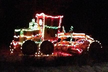 Christmas Road Grader