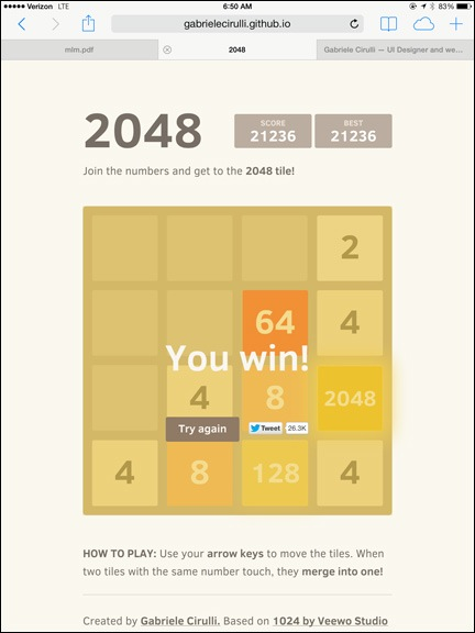 2048 Solved