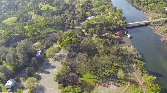 Aerial View of Lake Solano Park