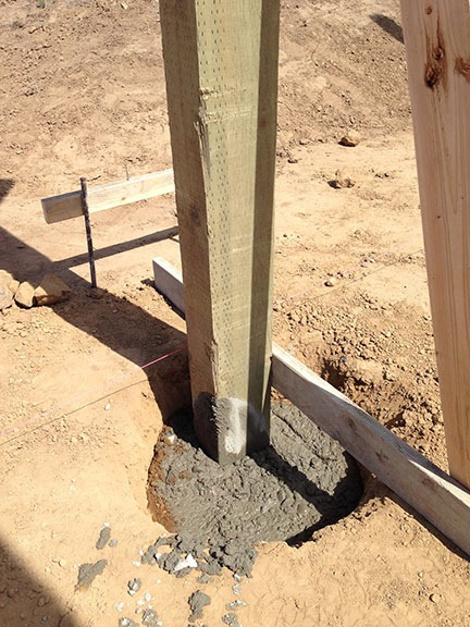 Concrete around Posts