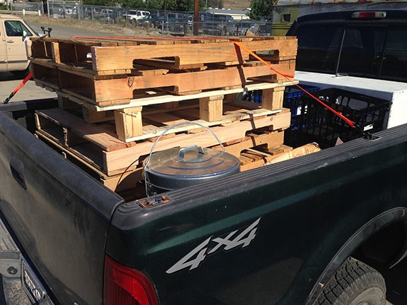 Pallets in a Truck