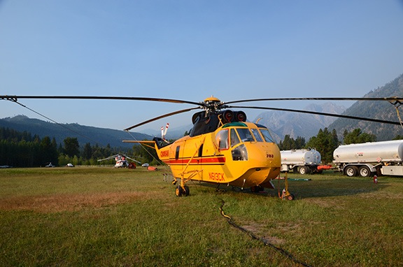 S-61 Outfitted for Firefighting