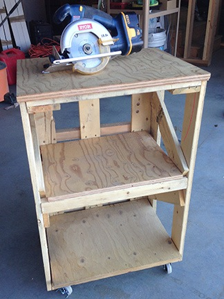 Small Rolling Workbench
