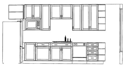 The Kitchen Drawing As Prepared By Lowe S Top And Home Depot Bottom I Like The Way Home Depot Does A Cutaway Of The Fridge