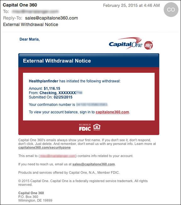 Withdrawal Confirmation