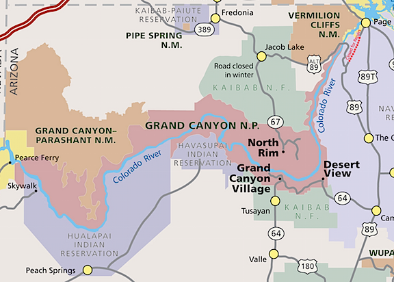 Grand canyon an eclectic mind grand canyon map sciox Choice Image