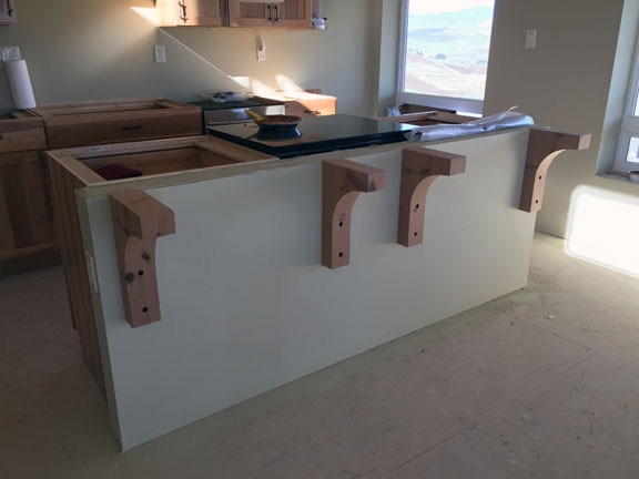 Corbels. Construction  Countertop Installation   An Eclectic Mind