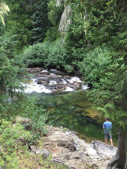 Fishing at Icicle Creek