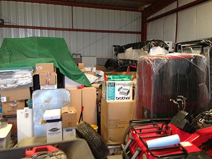 Boxes in Hangar