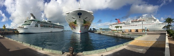 Nassau Port Panorama