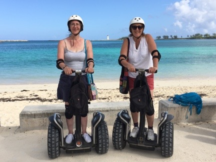 Laura and Maria on Segways