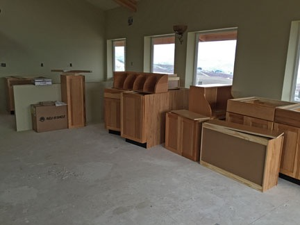 Delivered Cabinets