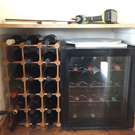 Wine Fridge in Closet
