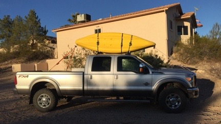 Kayaks on the Truck Roof