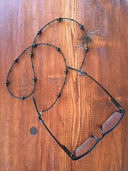 The chain on my glasses